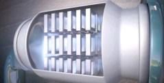 מתקן הפרדת המים מהקולטנים של חברת החשמל. צילום מתוך סרט של חברת החשמל