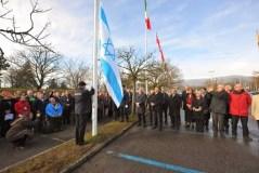 דגל ישראל מונף ב-CERN עם הצטרפותה הרשמית של ישראל לארגון. צילום: משלחת משרד החוץ בג'נבה, לאורנט אגלי.