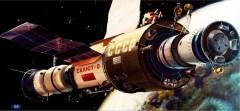 תחנת החלל סאליוט 6 - איור סובייטי.