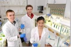 תלמידים מחוננים במעבדה. צילום: מכון דוידסון
