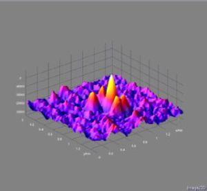 תמונת המיקרוסקופ המתוחכם של חומר שנוצר באמצעות ננו קריסטוגרפיה. צילום: אוניברסיטת וורוויק, בריטניה
