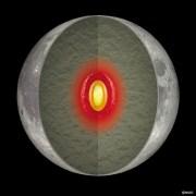 איור אמן של הסביבה הפנימית של הירח. איור: NAOJ