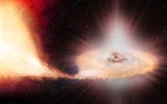 איור אמן של סופרנובה מסוג Ia. מקור: סוכנות החלל האירופית.