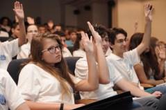 """תלמידי פרויקט """"מדעני וממציאי העתיד"""" במהלך כנס TEDMED. צילום יח""""צ"""