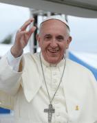 האפיפיור פרנציסקוס בביקור בקוריאה בשנת 2014. מתוך ויקיפדיה