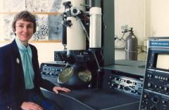 פרופ' לינדה סאיף מאוניברסיטת מדינת אוהיו במעבדתה. צילום יחצ