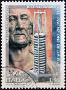 בול איטלקי משנת 1999 לכבודו של אלסנדרו וולטה. צילום: Neftali / Shutterstock.com