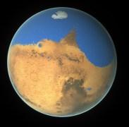 """מדעני נאס""""א קבעו כי אוקיאנוס פרימיטיבי על מאדים הכיל יותר מים מהאוקיאנוס הארקטי על כדור הארץ ואולם מאדים איבד 87% מתכולת המים שלו לחלל. איור . Credit: NASA/GSFC"""