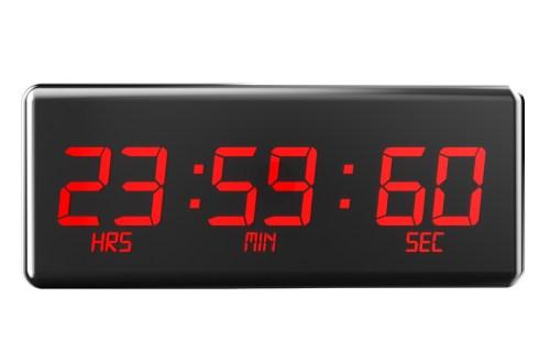 שעה נדירה. כדור הארץ מאט ולכן מדי פעם יש צורך להוסיף שניה לשנה כדי לתאם בין הזמן האמיתי לזמן היקום המתואם המכוון לפי שעון אטומי. צילום: shutterstock