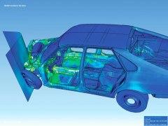 בדיקת עומסים על רכב בעת תאונה באמצעות תוכנת אלמנטים סופיים