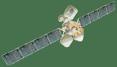 דגם של הלוויין עמוס 6. איור: התעשייה האווירית