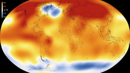 """ניתוחים עצמאיים שנעשו על ידי נאס""""א ועל ידי סוכנות האטמוספירה והאוקיאנוגרפיה (NOAA) מעלים כי זו היתה השנה החמה ביותר מאז הוחל במדידת טמפרטורת פני הקרקע בשנת 1880. צילום: נאס""""א"""