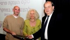 פרופ' תומר וולנסקי בטקס זכייתו בפרס קריל לשנת 2013