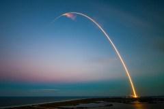 צילום השיגור בחשיפה ארוכה. מקור: SpaceX