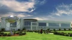 """דגם ממוחשב של מפעל OneWeb בפלורידה שיוכל לייצר 15 לווינים בשבוע. צילום יח""""צ"""