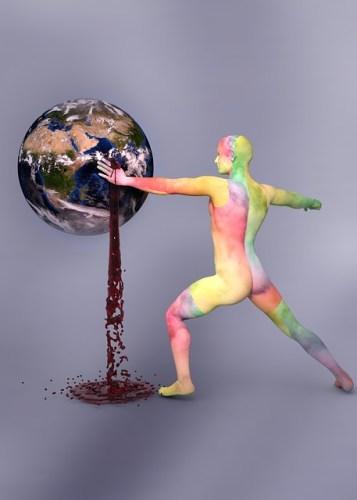 כדור הארץ מדמם נפט. מתוך PIXABAY.COM