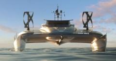 הדמיית תלת-ממד של הסירה: Pierrick Contin / Energy Observer