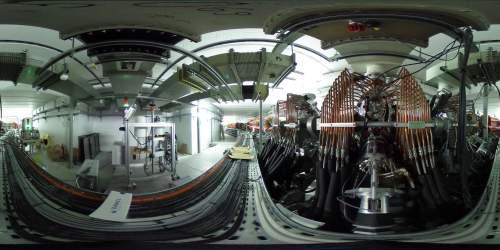 בתמונה, מאיץ החלקיקים בתמונה פנורמית 360 מעלות. (צילום: CERN)