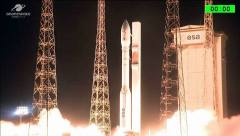 רגע שיגור משגר וגה ועליו שני הלוויינים הישראלים ונוס ואופסאט 3000, קורו - גינאה הצרפתית 2/8/17,