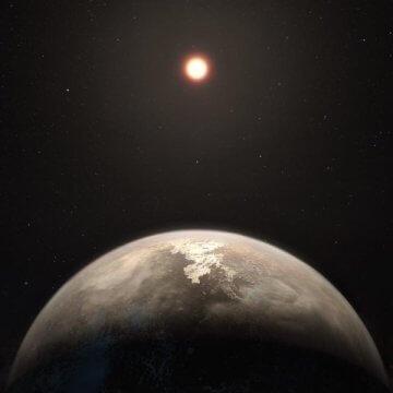 איור אמנותי של כוכב הלכת רוס 128b. קרדיט: ESO/M. Kornmesser