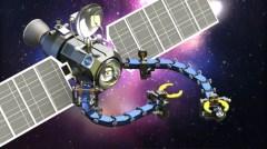 איור של טכנולוגית הזרועות בלוויין. לפי החוקרים, הפיתוח מתאים במיוחד לשימוש בתעשיית החלל, בה המינימליסטיות וחיסכון במשקל מהווים יתרון מובהק. יכולת התמרון של הזרוע הרובוטי ומשקלה הנמוך מקטינים את השפעת התנועה שלה על יציבות החללית. כך למשל, הרובוט יכול לשמש כזרוע שירות ותחזוקה עבור לוויינים. מקור: אוניברסיטת בן גוריון.