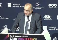 """מנכ""""ל משרד המדע והטכנולוגיה פרץ וזאן בכנס החלל ה-13 ע""""ש אילן רמון, שהתקיים באוניברסיטת ת""""א ב-29-30 לינואר 2018. צילום מסך"""