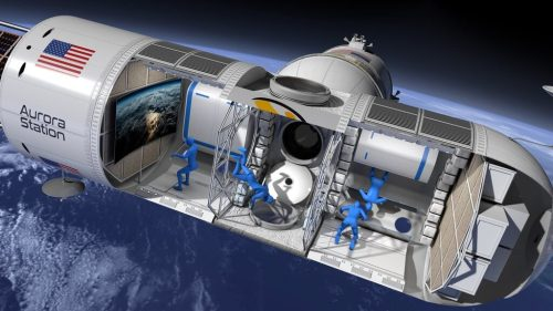 מבנה תחנת החלל הפרטית אורורה, שתשמש כמלון בחלל. איור: Orion Span