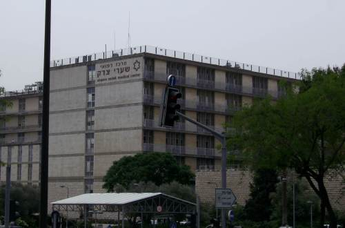 "בית החולים שערי צדק בירושלים. צילום: <a rel=""nofollow"" class=""external text"" href=""https://www.flickr.com/people/29001414@N00"">zeevveez</a> from Jerusalem, Israel - <a rel=""nofollow"" class=""external text"" href=""https://www.flickr.com/photos/zeevveez/2444860043/"">Share-Tzedek Hospital Star of David</a>, <a href=""https://creativecommons.org/licenses/by/2.0"" title=""Creative Commons Attribution 2.0"">CC BY 2.0</a>, <a href=""https://commons.wikimedia.org/w/index.php?curid=36201150"">קישור</a>"
