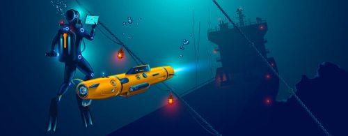 רובוטים משולבי התקני האינטרנט של הדברים יוכלו לעבוד במקומות מסוכנים כגון מתחת למים. איור: shutterstock