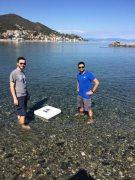 התקן ההתפלה הסולארי במהלך הבדיקות בים [באדיבות Politecnico di Torino]