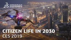 החיים בשנת 2030 על פי דאסו סיסטמס. תמונת מסך מהוידאו בערוץ החברה ביוטיוב.