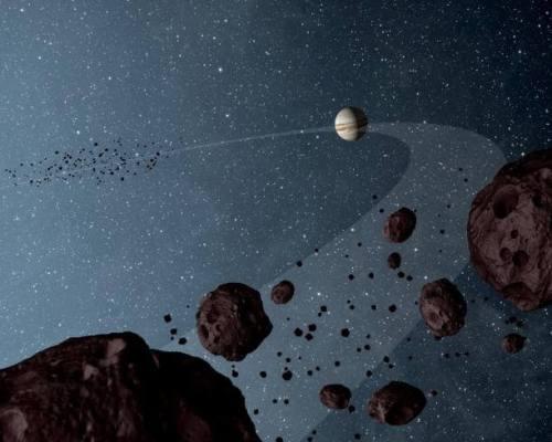 צדק נוצר במרחק גדול יותר פי ארבע מהשמש מאשר המיקום הנוכחי שלו כיום, על פי סימולציה חדשה. איור: NASA / JPL-Caltech