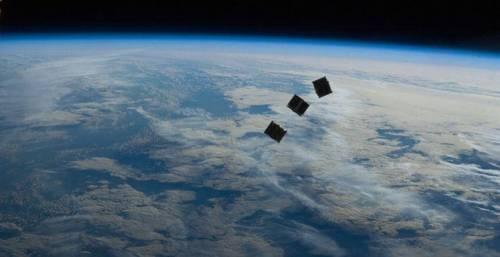 """קיובסאט - ננו לוויינים. איור: נאס""""א"""