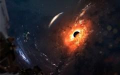 איור המשלב את החור השחור במרכז גלקסיית M87 - הראשון שצולם על ידי אסטרונומים. איור: shutterstock