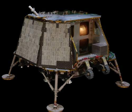 אורביט ביונד מאדיסון, ניו ג'רזי, הציעה להטיס עד ארבעה מטעדים אל מישור לבה באחד ממכתשי הירח. איור: אורביט ביונד