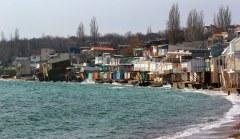 שכונה שוקעת לתוך הים השחור באודסה, אוקראינה. צילום: shutterstock