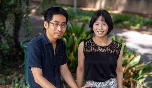 """ד""""ר טקאשי קאוואשימה וד""""ר מיו נונקה. צילום: דוברות מכון ויצמן"""