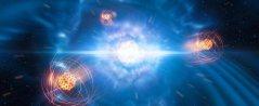 בזכות ניתוח מחדש של הנתונים משנת 2017 של אירוע המיזוג, זיהינו כעת חתימה של יסוד כבד אחד מוגדר בתוך כדור אש זה, היסוד סטרונציום, מה שמוכיח כי התנגשות של כוכבי נויטרונים גרמה ליצירה של יסוד זה ביקום. איור: ESO