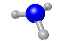 מולקולת האמוניה - NH3. Image by Colin Behrens from Pixabay