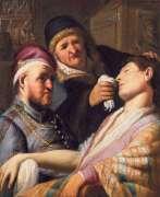 """""""החולה מחוסר ההכרה (אלגוריה על חוש הריח)"""", 1625. רמברנדט צייר יצירה זו בגיל 19 כחלק מסדרה של חמשת החושים. הציור התגלה ב-2015 באוסף של משפחה בניו ג'רזי"""