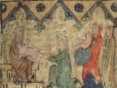 מילת יצחק על ידי אברהם, ספר תורה מרגנסבורג, שנת 1300 לערך