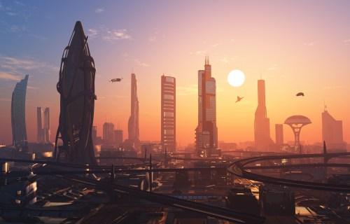 A futuristic city. Illustration: shutterstock