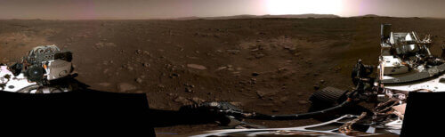 Panoramic view of the environment of the Martian Preserve (Persistence).  Photo: Nas