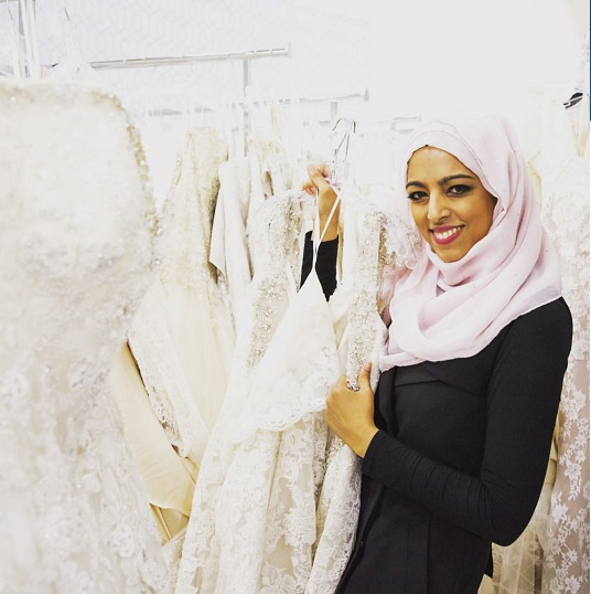 "Rania on set of ""Say Yes to the Dress"" Canada"