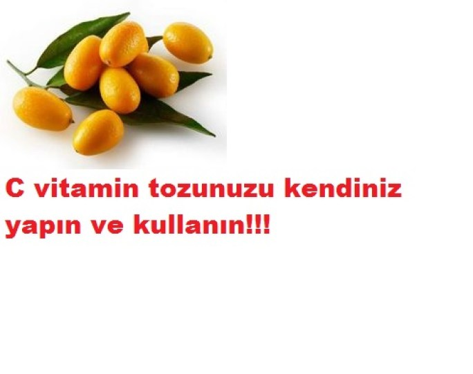 Evde C vitamini tozunu kendiniz yapın
