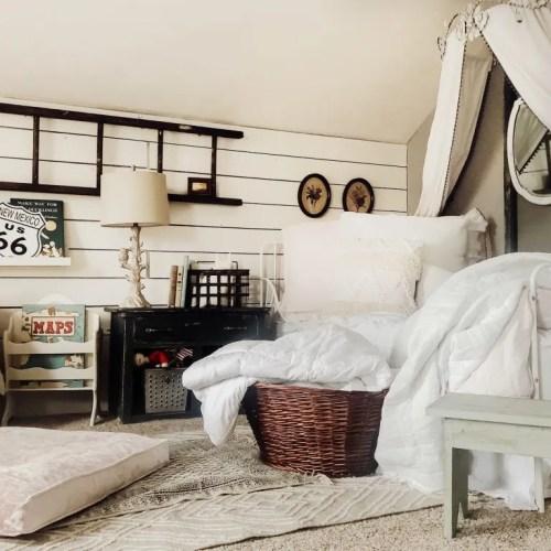 Vintage Inspired Girl's Bedroom Refresh
