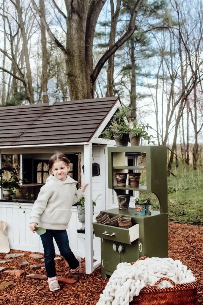 DIY Kids Potting Bench Makeover