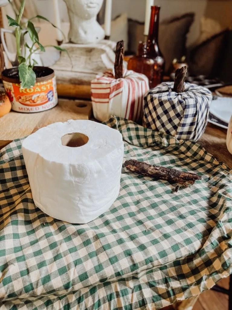 DIY Fabric Toilet Paper Pumpkins