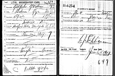 The Search For Ralph Yerks WWI Recognition Goes On
