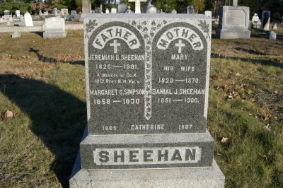 Sheehan's and Hayes' At The Old St. Joseph's Cemetery in Bedford, NH